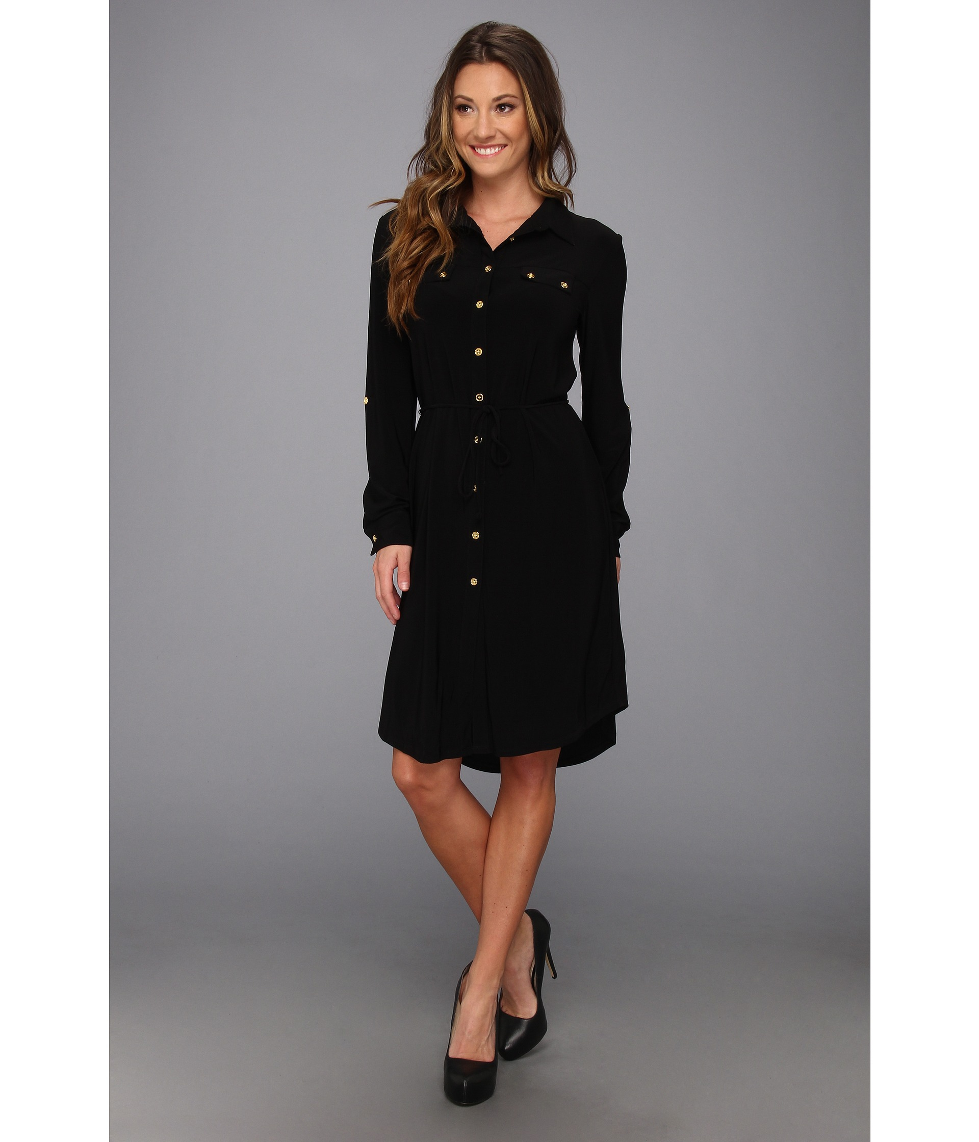 Black shirt dress - Black Bergen Dress